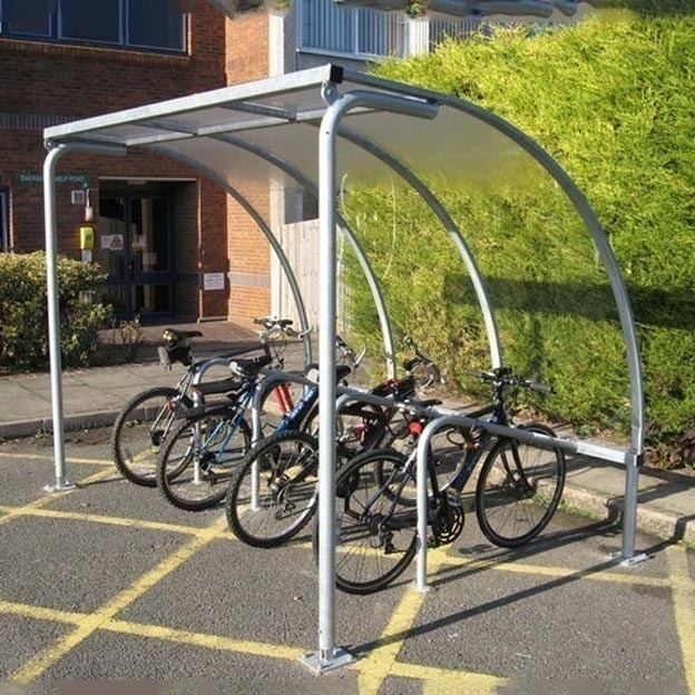 Secure Bike Shelters : Vs bike shelter includes cycle stands easy to install