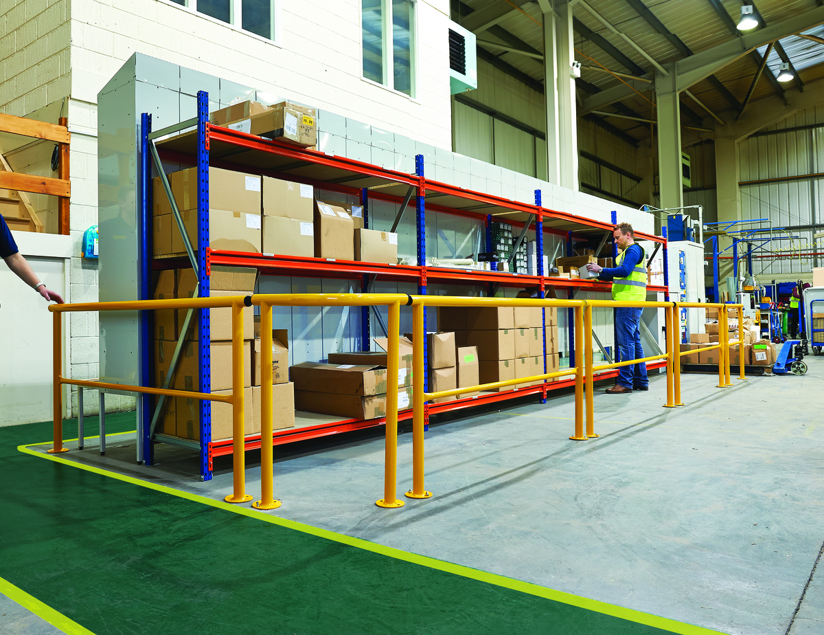 Guard rails ideal for warehouse or industrial environment